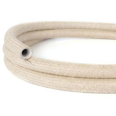Creative-Tube, Tubo flexible con revestimiento de Lino Natural Neutro RN01, diámetro 20 mm
