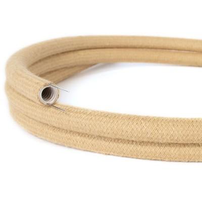 Creative-Tube, Tubo flexible con revestimiento de tela Efecto Seda Jute RN06 , diámetro 20 mm