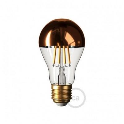 Copper half sphere Drop A60 LED light bulb 7W E27 2700K Dimmable