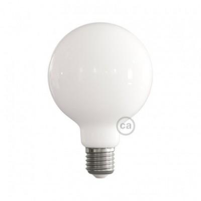 LED Milky White Light Bulb - Globe G95 - 7.5W E27 Dimmable 2700K