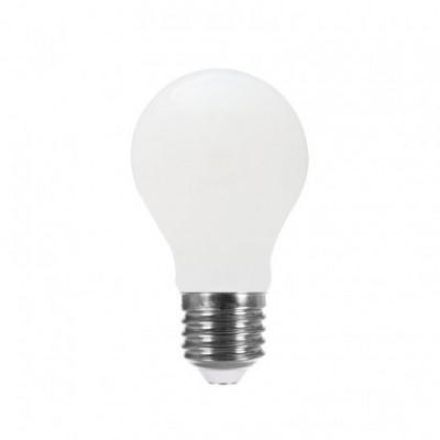 LED Light Bulb Drop A60 Milky 8W E27 4000K