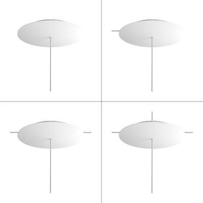Kit rosetón XXL Rose-One redondo, diámetro 400 mm con 1 agujero y 4 agujeros laterales