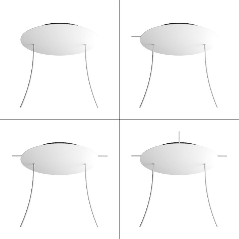 Round XXL Rose-One 2-hole and 4 side holes ceiling rose Kit, 400 mm