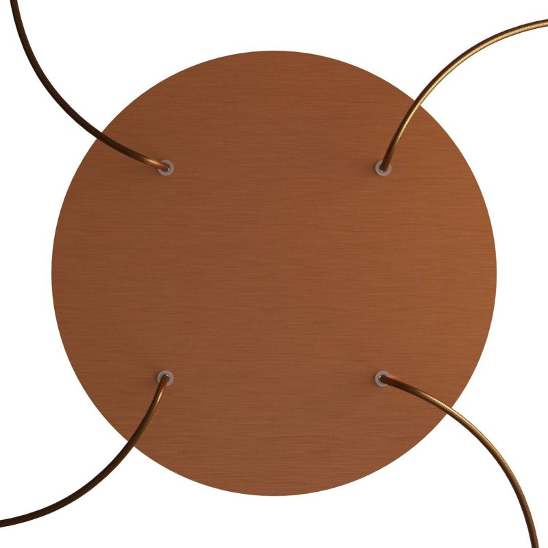 Round XXL Rose-One 4-hole and 4 side holes ceiling rose Kit, 400 mm