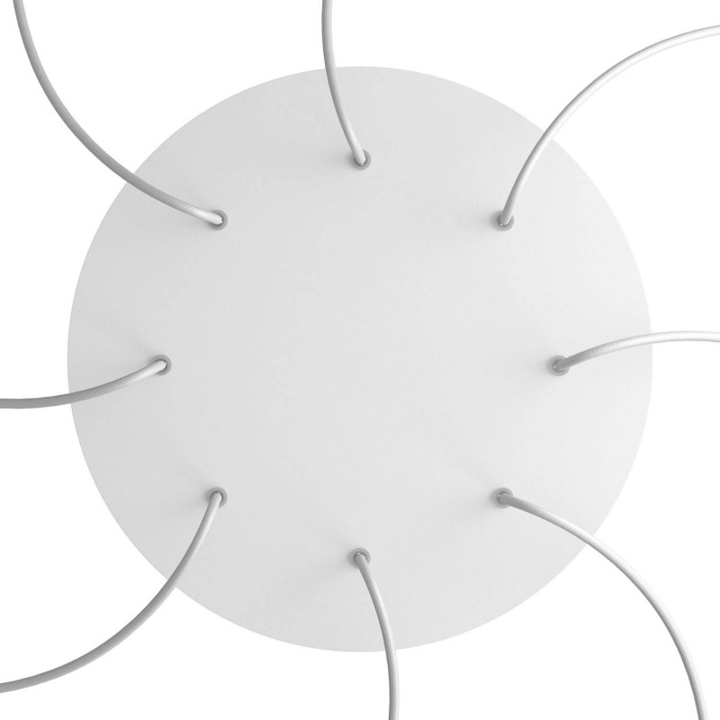 Round XXL Rose-One 8-hole and 4 side holes ceiling rose Kit, 400 mm