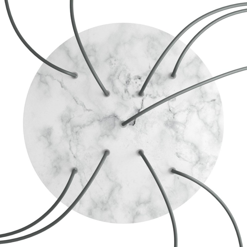 Round XXL Rose-One 9 X-shaped holes and 4 side holes ceiling rose Kit, 400 mm