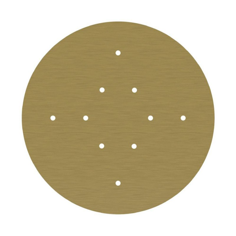 Round XXL Rose-One 10-hole and 4 side holes ceiling rose Kit, 400 mm