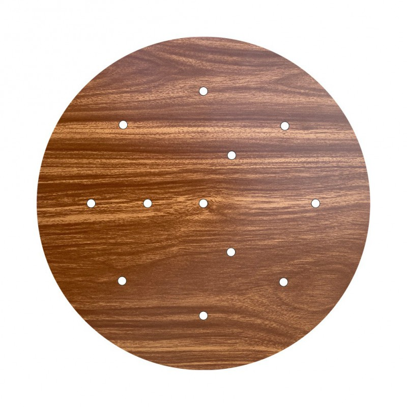 Round XXL Rose-One 12-hole and 4 side holes ceiling rose Kit, 400 mm