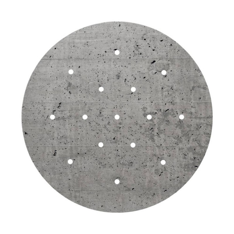 Round XXL Rose-One 15-hole and 4 side holes ceiling rose Kit, 400 mm