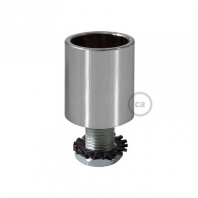 Racor de metal Cromado para Creative-Tube 16 mm, accesorios incluidos