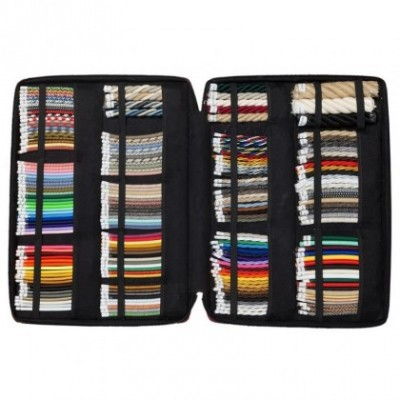 Eco-friendly leather suitcase, exhibit box with cable and rope samples