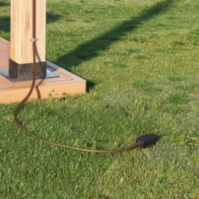 Junction box for Lumet string lights with adaptors for round and flat cables