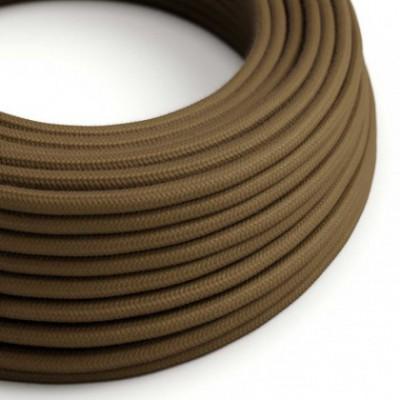 Cable Eléctrico Redondo Recubierto en Algodón Color Sólido Marrón RC13