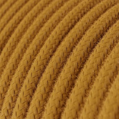 Cable Eléctrico Redondo Recubierto en Algodón Color Sólido Miel Dorado RC31