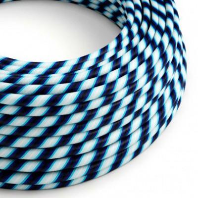 Cable Eléctrico redondo Vertigo HD recubierto en Textil Mr Blue ERM60