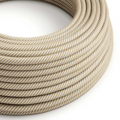 Cable Eléctrico redondo Vertigo recubierto en Yute y Algodón ERN07