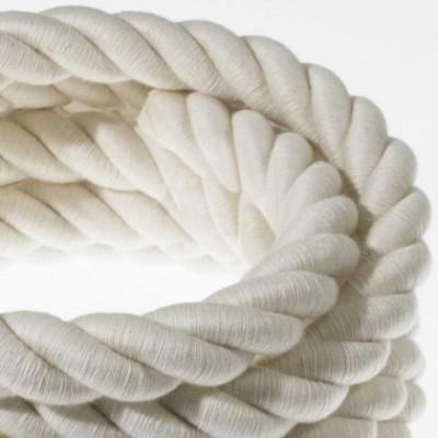 Cordón 2XL, cable eléctrico 3x0,75, recubierto en algodón en bruto. Diámetro: 24mm.