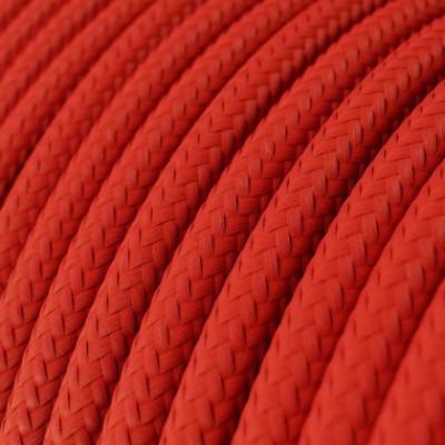 Cable Lan Ethernet Cat 5e con conectores RJ45 - RM09 Efecto Seda Rojo
