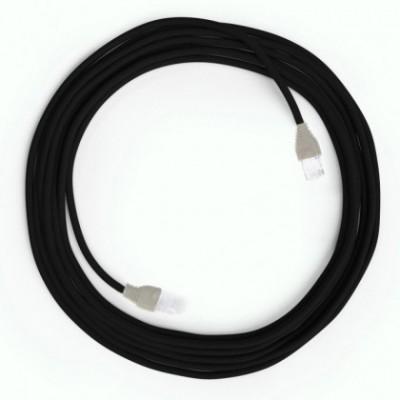 Cable Lan Ethernet Cat 5e con conectores RJ45 - RM04 Efecto Seda Negro