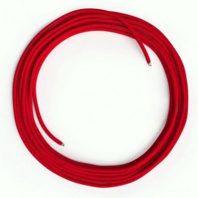 Cable Lan Ethernet Cat 5e sin conectores RJ45 - RM09 Efecto Seda Rojo
