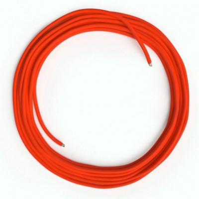 Cable Lan Ethernet Cat 5e sin conectores RJ45 - RF15 Efecto Seda Naranja Fluo