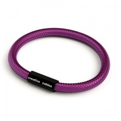 Bracelet with Matt black magnetic clasp and RM35 cable