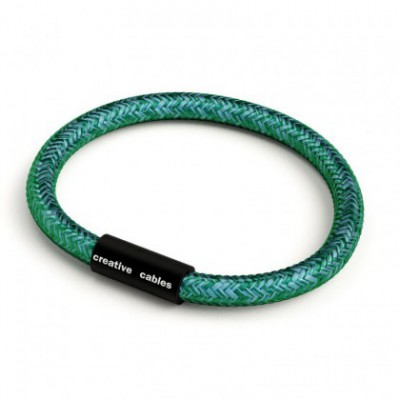 Bracelet with Matt black magnetic clasp and RM33 cable