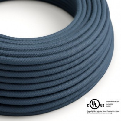 Round Electric Cable 150 ft (45,72 m) coil RC30 Stone Gray Cotton - UL listed