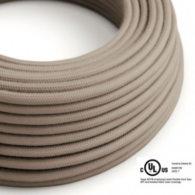 Round Electric Cable 150 ft (45,72 m) coil RC43 Dove Cotton - UL listed