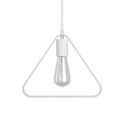 Lámpara colgante hecha en Italia con cable textil, pantalla Duedi Apex y acabados en metal