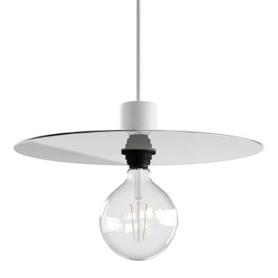 Placa Dibond extragrande de Ellepì para lámparas de suspensión para exteriores, diámetro 40cm - Made in Italy