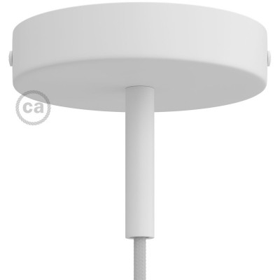 Cylindrical metal ceiling rose kit with 7 cm cable clamp