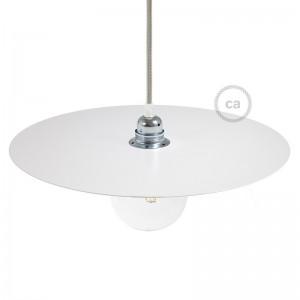 Plato Ellepi oversize de hierro barnizado para lámpara de suspensión, diámetro 40cm - Fabricado en Italia