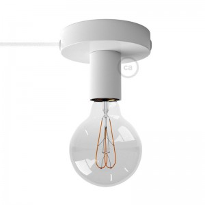 Spostaluce, the metal light source with fabric cable and side holes